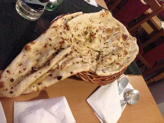 Flavours: Huge chili and garlic naan