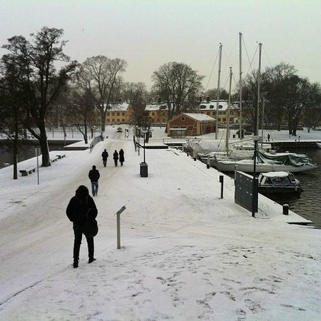 Hotel Skeppsholmen: Walk from the Business rooms to the hotel