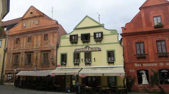 Pension Na louzi: Hotel is on the left