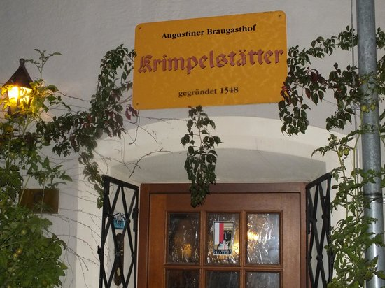 Krimpelstatter : Restaurant entrance