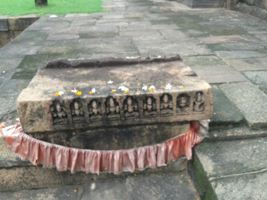 Mukteswara Temple: Navagraha Shila kept at the side of the temple