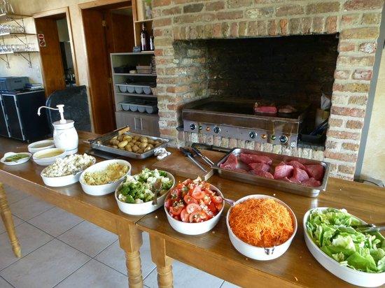 Hoevehotel Ter Haeghe: barbeque