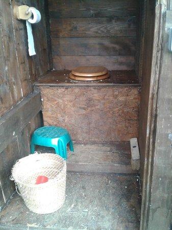 Eco-Domaine du Houvre: un des 2 wc sec...les araignées ne sont pas sur la photo