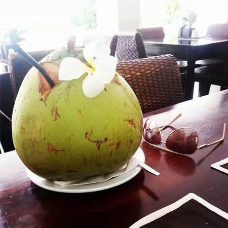 Villa Diana Bali: Coconut in the Dining Area