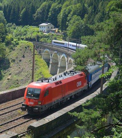 Ghega Museum: Kalte Rinne Viadukt mit Museum