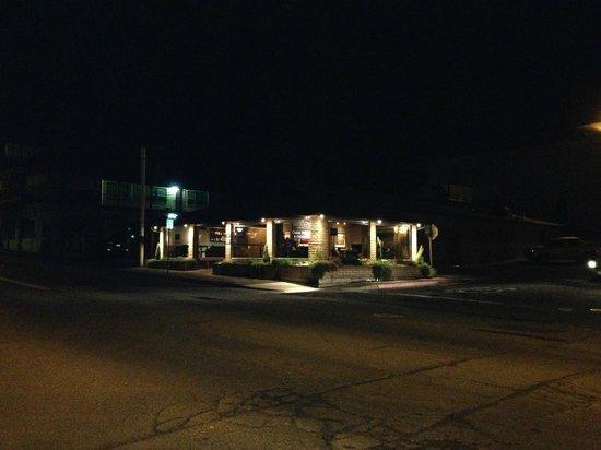 Savoury's Restaurant, night view.