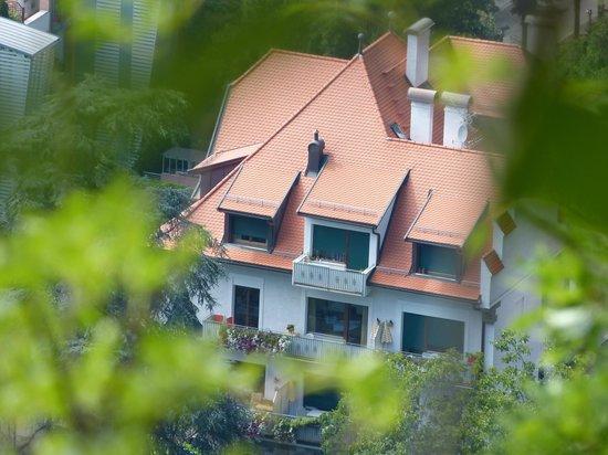 Residence Ladurnerhof: Blick vom Tappeiner Weg auf die FEWO
