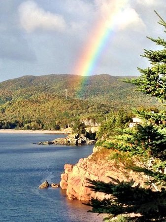 Keltic Lodge Resort & Spa: morning rainbow