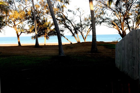 Sarina Beach Motel: the view from outside my beachfront motel