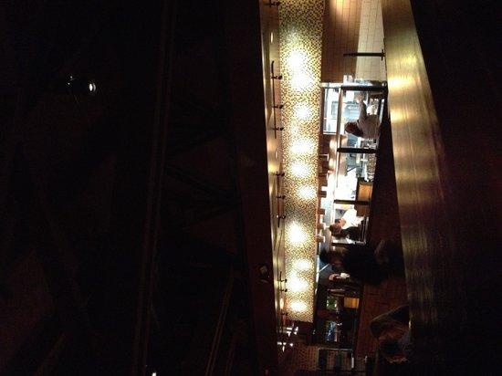 J Alexander's Restaurant: The kitchen and server area
