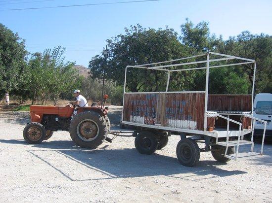 The Hotel Patara Viewpoint: Tractor to Patara beach