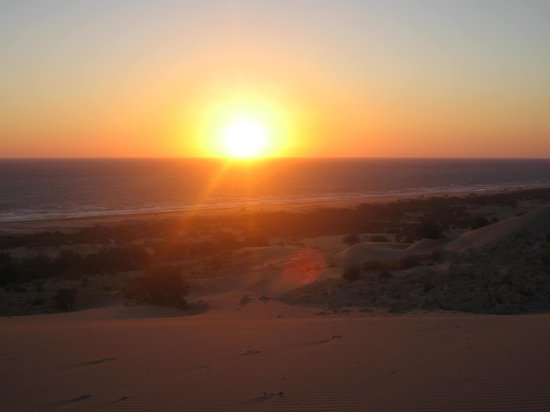 The Hotel Patara Viewpoint: Sunset over the sand dunes