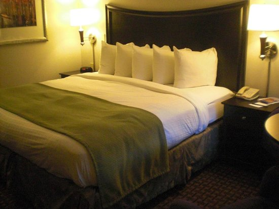 Rockport Inn and Suites: King size bed w/flat screen, mini fridge & coffee maker