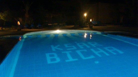 Ksar Bicha: la piscine de nuit....génial