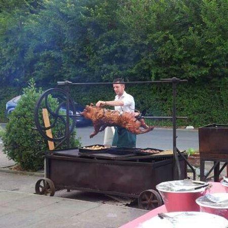 The Green Man & Courtyard: Hog Roast