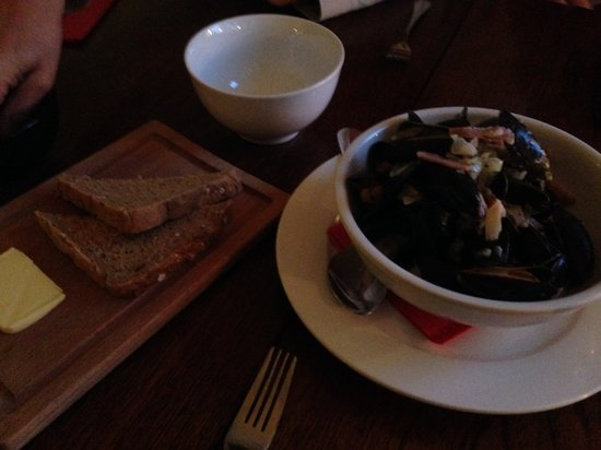 The Table: Mussels with cider, bacon, cream, parsley and bread