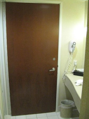 Door Closed To Toilet Area Bathroom Frame Open Picture