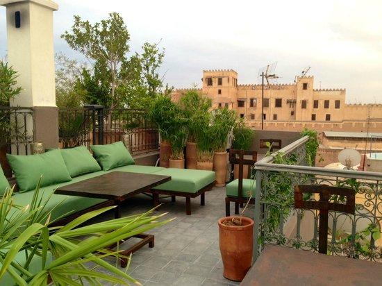 Riad Dar Thania : La terrasse panoramique avec vue sur le palais Moulay Idriss