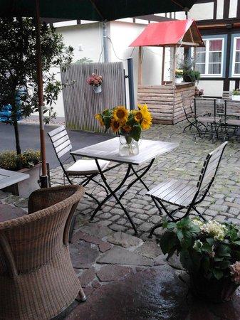 Hotel Schlafschon : Outside the lovely breakfast room