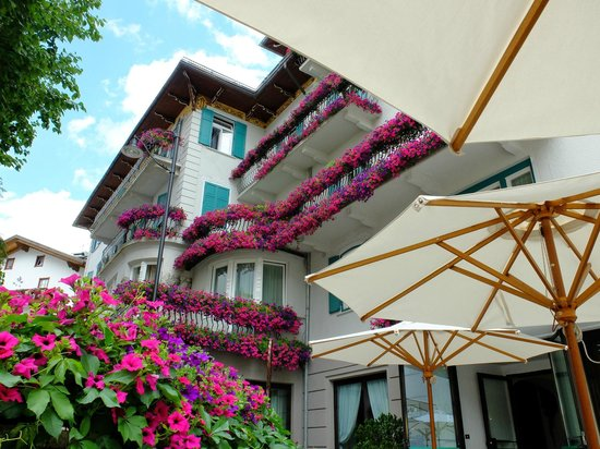Hotel Cortina: 美しい花々に囲まれたホテル
