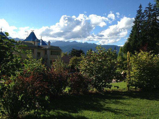 Villa Orso Grigio: Blick vom Gartenpavillon unseres Zimmers