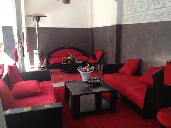 Riad Pachavana: 2ème salon exterieur