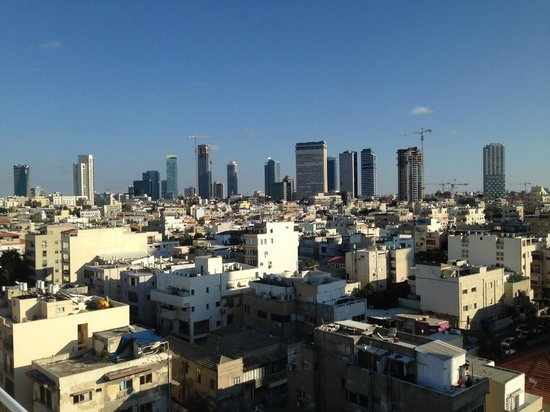 The Savoy Sea Side Hotel: View of Tel Aviv from Roof!