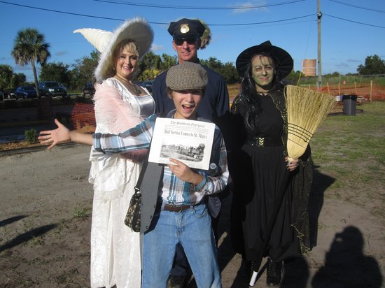 St. Marys Railroad: Some of the characters enjoying their roles!