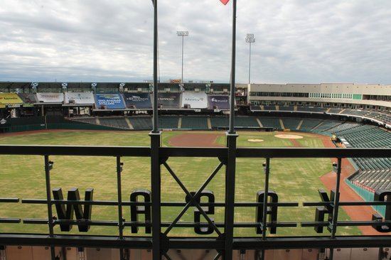 Hampton Inn & Suites Oklahoma City / Bricktown: The baseball field from the parking garage