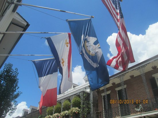 Hotel Provincial: The flags welcome you!