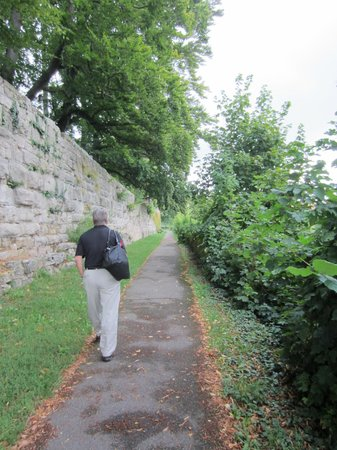 Pension Fuchsmuehle: Paved path up to the village