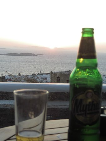 Germanos Studios: View of Mykonos town from our terrace