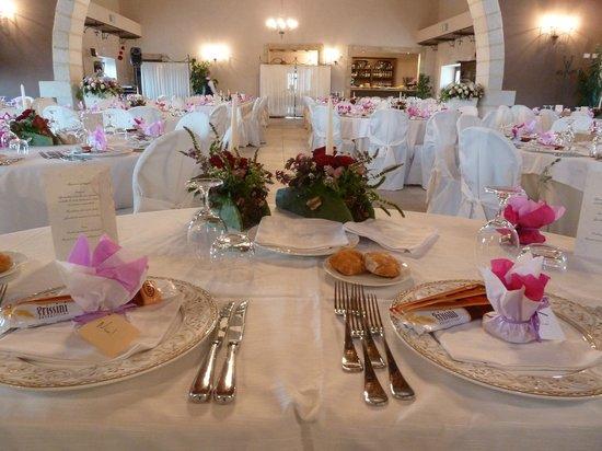 Marina di Ragusa, Italy: La sala addobbata per un matrimonio