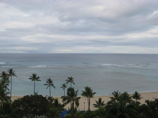 Hale Koa Hotel: View from our lanai.