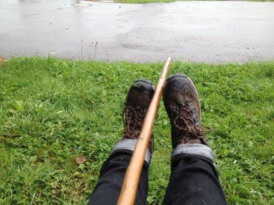 Manoir Kasselslay : Wet walking shoes