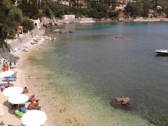 Paleokastritsa Beach: view from the balcony