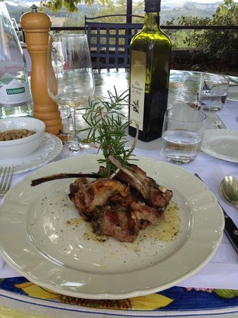Montefollonico, Italia: the fabolous lamb