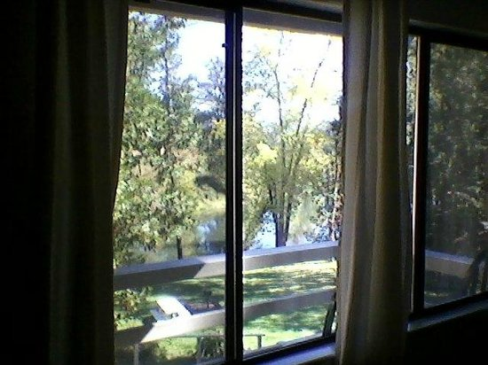 Riverside Lodge Motel : View From Honeymoon Suite's Window