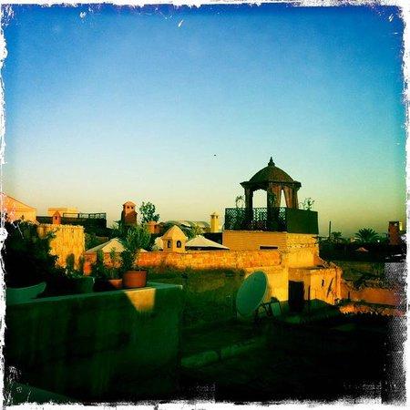 Riad Le J: vista dalla terrazza
