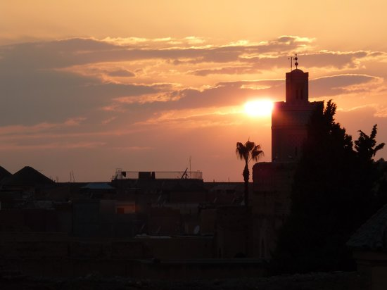 Riad Charme d'Orient: sunset