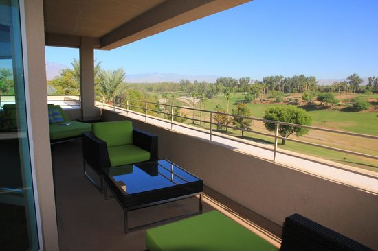 Hyatt Regency Indian Wells Resort & Spa: terrasse de la chambre