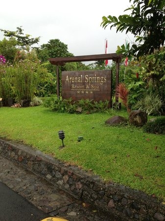 Arenal Springs Resort and Spa: Resort Sign