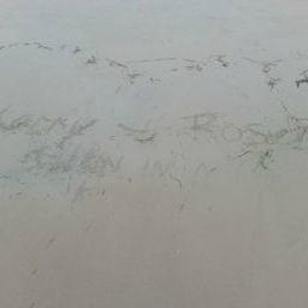 Sandals Negril Beach Resort & Spa: Names in the sand