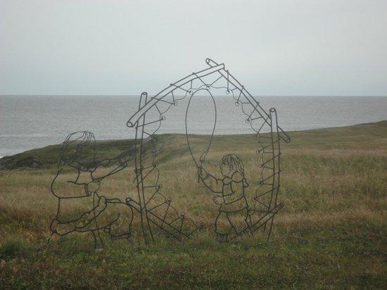 Port au Choix National Historic Site of Canada: Sculpture depicting Dorset people