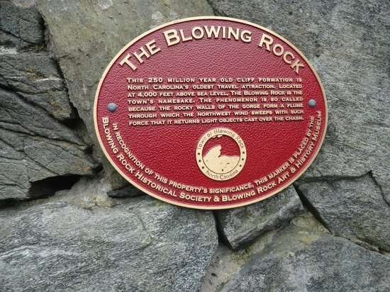 Legend of the Blowing rock