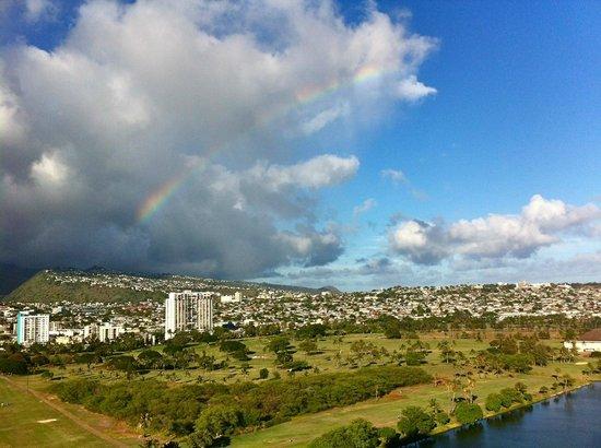 Fairway Villa: Rainbow view from condo