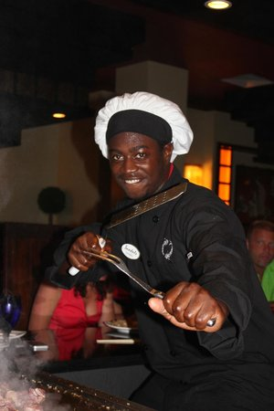 Sandals Royal Bahamian Spa Resort & Offshore Island: Kimono's restaurant, our chef was a blast.