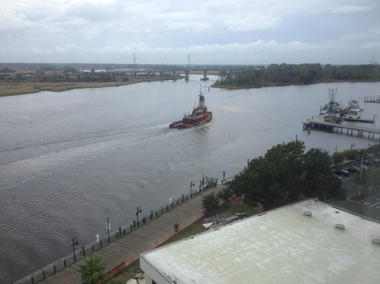 Hilton Wilmington Riverside: River looking West from room