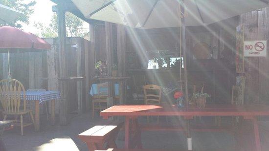 Bell Street Farm: The lovely and kozy 'backyard'!