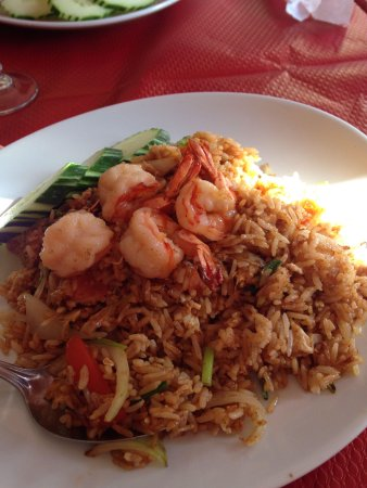 Mille Elephants : Thai stir fried rice with prawns